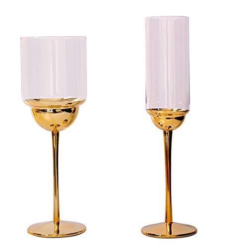 LLYAND Creativas Cristal Copas De Vino, Copas De Vino Tinto, Copa De Paja De Cóctel, Cristal De Galvanoplastia, Taza De Cristalería Textura De Metal