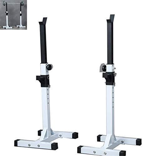 qazxsw Verstellbarer Langhantelständer Pressständer Home Fitnessgeräte Squat Rack Trainingsgeräte Lager 200kg