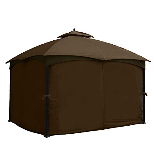 ABCCANOPY 10' x 12' Gazebo Universal Privacy Curtain Set Protecting Side Walls for #GF-12S004B-1 (Brown)
