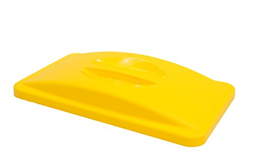 Rubbermaid Commercial Products Slim Jim Handle Lid - Yellow