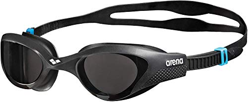 arena Unisex Training Freizeit Schwimmbrille The One (UV-Schutz, Anti-Fog Beschichtung, Harte Gläser), schwarz (Smoke-Grey-Black (545), One Size