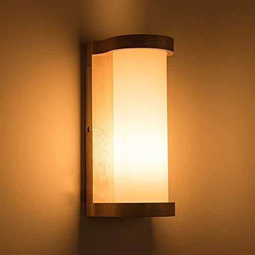 YUNDONG Lámpara de Piso de Piso Lámpara de Pared de Madera Maciza sólida y sólida Simple Japonés Moderno Chino Sala de Estar Aisle Terraza Lámpara Dormitorio Lámpara de Noche