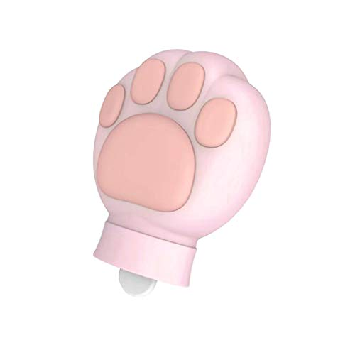 Shan-S Hot Water Bottle, Small 480ml Natural Rubber Hot Water Bottle Cute Cat Claw Natural Rubber Hot Water Bag for Kids Adults Winter Warmer Heat Gift Keep Warm and Heat Therapy