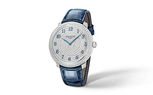 Patek Philippe Calatrava White Gold 4978-400G-001 with Fully Set with Diamonds dial