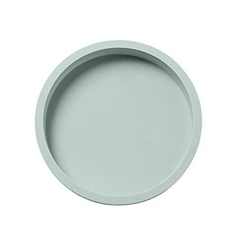 Molde de silicona para tortitas para sartén de panqueques de silicona, molde de repostería, molde de silicona antiadherente para panqueques de verduras, tortitas de pizza, tortilla de corteza (verde)