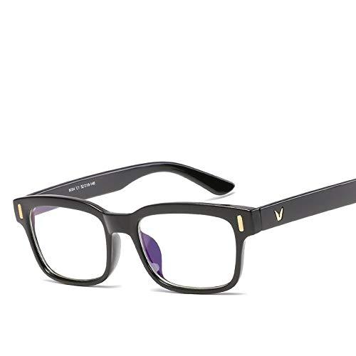 HUITAILANG Gafas Bloqueo Luz Azul Paquete De 2, Gafas De Ordenador con Filtro, Transparentes, Negras, Montura Gruesa, Ligeras, Cuadradas, Clásicas, Ópticas, Moda Coreana Unisex De Gran Tamaño