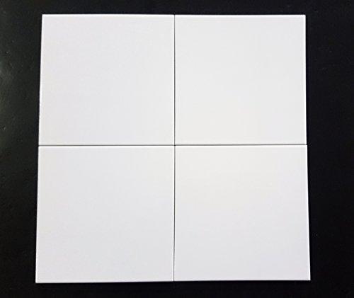 Piastrelle rivestimento bagno e/o cucina in bicottura Ceramiche di Sassuolo cm 20 x 20, colore Bianco lucido art. B03490 scatola da 40 pezzi x mq 1,60.