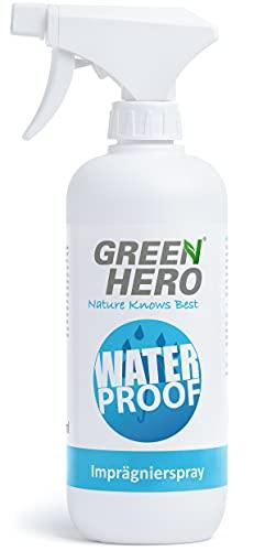 Green Hero Spray Impermeabilizzante per Tessuti e Pelle, 500 ml, senza Gas Propellente - Spray Sigillante Impermeabile con Nanotecnologia - Contro Sporco e Umidità