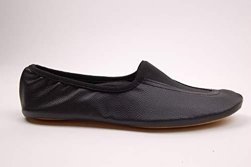Voltigierschuhe Leder schwarz (schwarz, 33)