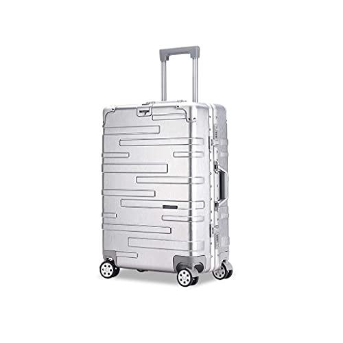 JIAWYJ Maleta portátil/Maleta de Equipaje con Equipaje de Gran Capacidad Conjuntos de Equipaje Maletas Travel Ons Carry On Hand 29inches / Código de Productos básicos: LWH-46 (Color : Silver)