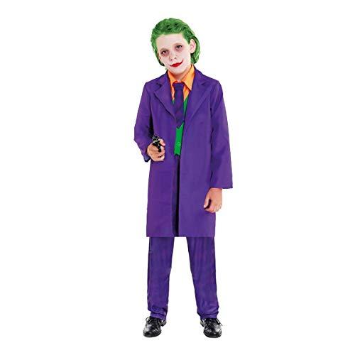 H HANSEL HOME Disfraz Bufón Joker Infantil - Niño Vestido para Cosplay/Carnaval/Halloween Size 13-15 años