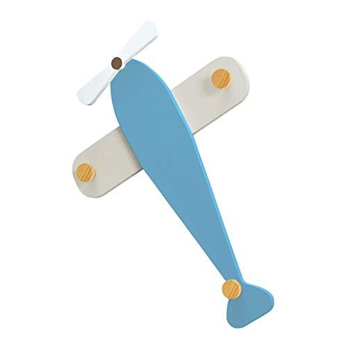 Decoración de la Pared Aviones guardarropa Gancho Perchero for niños montado en la Pared Que cuelga tecla de conexión Sistema for Colgar Porche (Color : D)