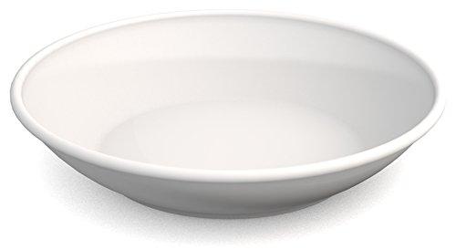 Ornamin Teller tief Ø 18 cm weiß Melamin (Modell 419) / Kunststoff-Essteller, Suppenteller