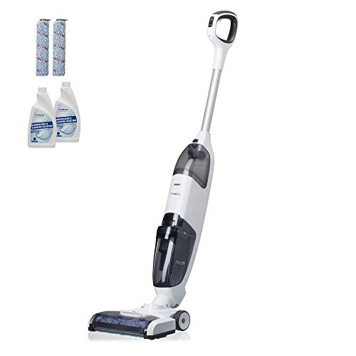 Tineco iFloor Complete Cordless Wet Dry Vacuum Cleaner and Mop, Powerful One-Step Cleaning for Hard Floors, Great for Sticky Messes and Pet Hair with Extra Accessories