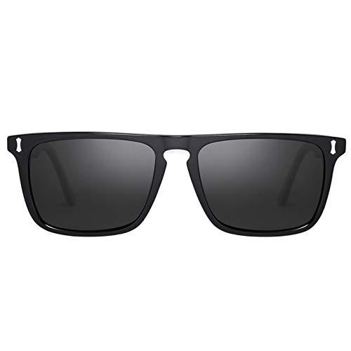Carfia Retro Gafas de sol Hombre Polarizadas UV406 Protección para Conducir Pesca al Aire Libre Marco de Acetato
