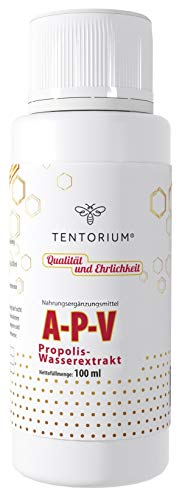 Bienen Propolis Tropfen TENTORIUM A-P-V 100ml | Immunsystem stärken | Propolis Tinktur ohne Alkohol stark gegen Viren | 100% TOP QUALITÄT
