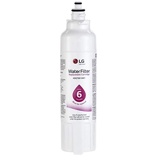 LG LT800P Refrigerator Water Filter, Filters up to 200 Gallons of Water, Compatible with Select LG French Door and Side-by-Side Refrigerators with SlimSpace Plus Ice System
