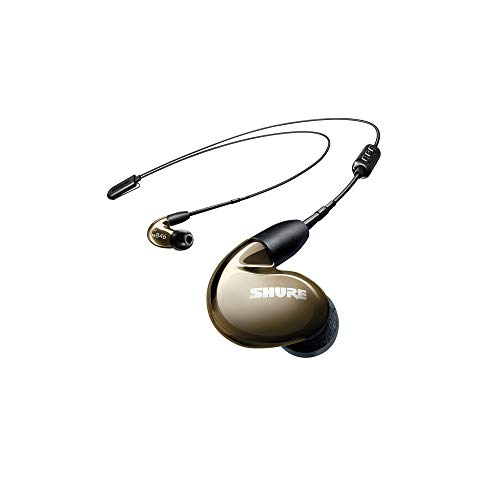 Shure SE846-BNZ+BT1 Wireless Sound Isolating Earphones with Bluetooth Enabled Communication Cable, Bronze