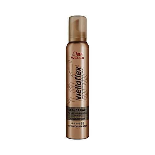 Wella Wellaflex Glanz & Halt Schaumfestiger, 6er Pack (6 x 200 ml)