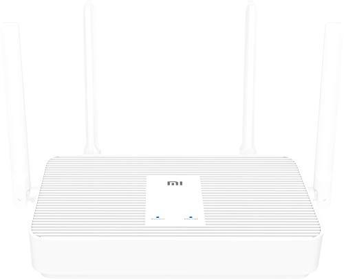 Xiaomi Mi AX1800 Router Wi-Fi, 1800 Mbps a 5GHz e 574Mbps a 2.4GHz, Wi-Fi 6 (802.11ax), RAM 256MG, 4 antenne esterne, Bianco, Versione Italiana
