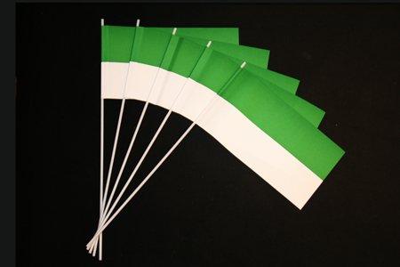 Everflag Papierfähnchen: grün-weiß 50er Packung