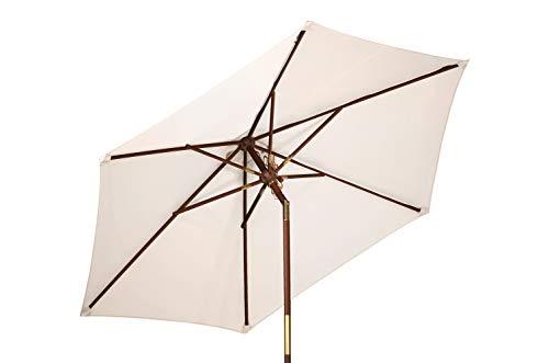 Kai Wiechmann Sonnenschirm Sunshine ø 240 cm, weiß, UV-Schutz 50+ ✓ kippbar ✓ Windauslass ✓