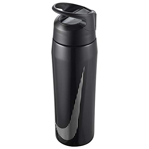 Nike 9341/54 SS HYPERCHARGE Straw Bottle Bouteille d'eau Adulte Unisexe, 074 Metallic Black/Anthracite, Taille Unique
