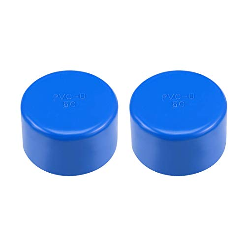 Schedule 50 - Raccordo per tubo in PVC, 50 mm, estremità scorrevoli, DWV (scarico dei rifiuti di scarico), irrigazione piscina, insonorizzazione, 2 pezzi, colore: blu