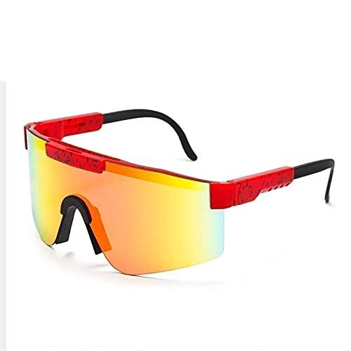 SNCAIZG Pit-Vipers Gafas de Sol Deportivas polarizadas UV400 para Hombres y Mujeres Gafas de Ciclismo Gafas de Sol de Fiesta Gafas a Prueba de Viento Gafas para Conducir Correr Pesca Senderismo