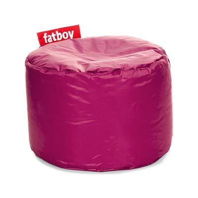 Fatboy® Point pink Nylon-Hocker | Runder Sitzhocker | Trendiger Poef/Fußbank/Beistelltisch | 35 x ø 50 cm