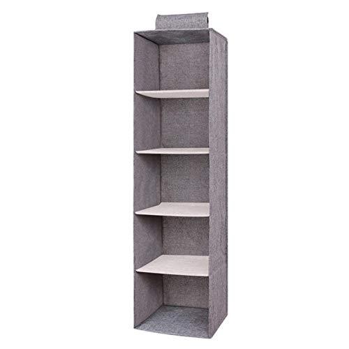 Kisbeibi Caja de almacenamiento, contenedores de almacenamiento a prueba de agua, organizadores de contenedores de almacenamiento con asa para juguetes, libros, dormitorio, hogar (5 capas)