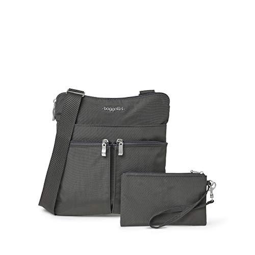 Baggallini womens Horizon Crossbody cross body handbags, Charcoal, One Size US