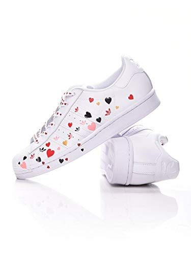 adidas Superstar White FV3289 Women's Sneakers Red Size: 6 UK