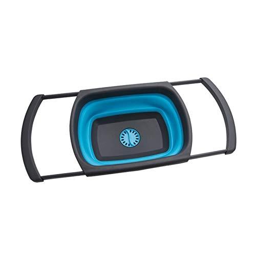 Luckylele Canasta de lavandería Oval Cesta Plegable Canasta Plegable Almacenamiento de contenedores Organizador portátil Tina de Lavado portátil Multifunción Plato de Corte Plegable Espacio Ahorro de