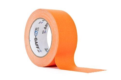 ProTapes/Permacel 48mmx25 yard fluoreszierendes Gaffer Textil Klebeband orange