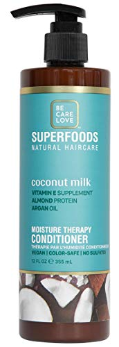 Be Care Love SuperFoods Coconut Milk Weightless Moisture Conditioner 12 oz