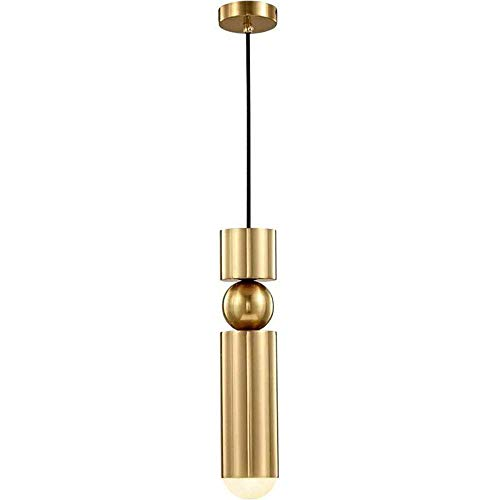 HJW Colgante Nórdico Luz Oro Cabe Cabeza Cabeza Colgante Colgando Altura Ajustable Metal Lámpara Colgante Pantalón G9 Lámpara Comedor Sala de Estar Aisle Entrada