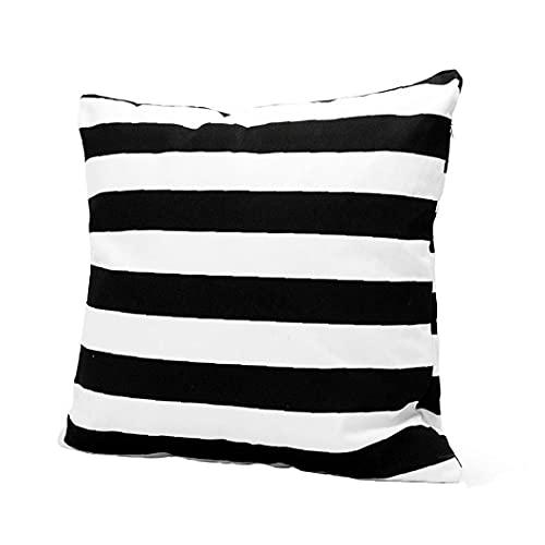 Cojines Cubierta Rayas Blancas Almohada Moderna De Lino Cojín Almohada del Sofá del Dormitorio De Coches Decoración 45 * 45cm