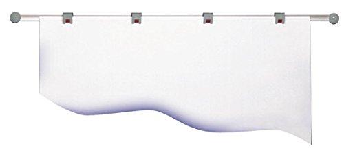 Maul Planhalter Wandschiene, inklusive 4 Rollenclips, Aluminium, 104, 5 x 3, 8 cm, silber/Grau