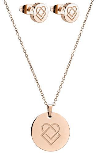 Liebeskind Berlin LS-0069-NE - Parure di gioielli, in acciaio INOX e oro rosa