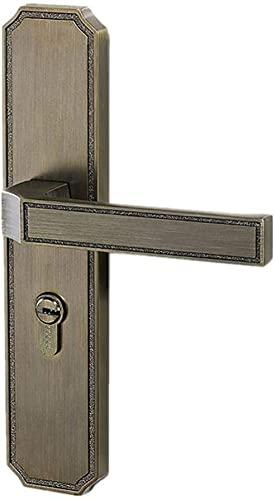Stäng av låskroppen Grön brons inomhus dörrlås solid träpanel handtag lås sovrum bokhylla kök