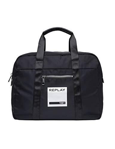 Replay Unisex-Erwachsene Fu3063.000.a0021b Schultertasche Schwarz (Black)