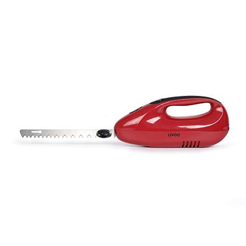 LIVOO DOM360RC - Cuchillo eléctrico para carne y cocina - para pan - con cuchillas...