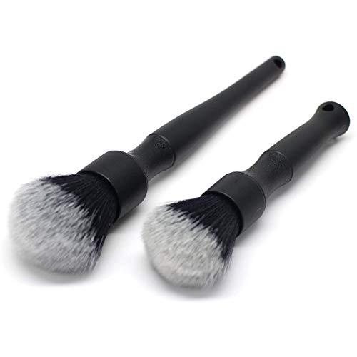 Kirmax Brosse de DéTail pour L'IntéRieur Brosse à éCartement Brosse de Nettoyage Super Douce Ensemble de Pinceaux de Maquillage Super Doux, Noir