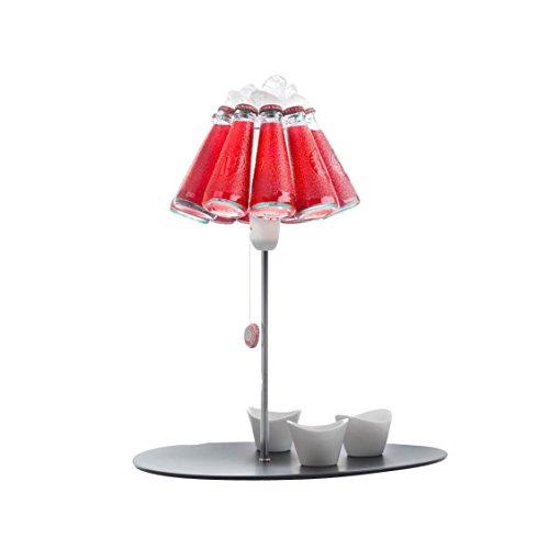 Campari Bar Tischleuchte, rot Glas 2800K Lieferung ohne Schälchen