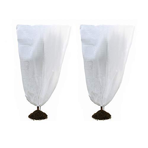 Housse de protection pour plantes - Pour l'hiver - Protection contre le gel et le froid - 60 g/m² - Blanc