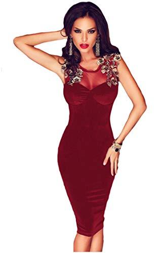 Vestiti Donna - Abiti Corti Ragazza - Fashion Moderno da Discoteca Party Sera Ballo O Festa -...