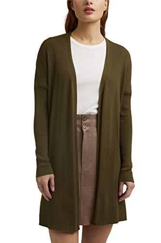 Esprit 021EE1I305 Suéter cárdigan, 350/verde Caqui, XXL para Mujer