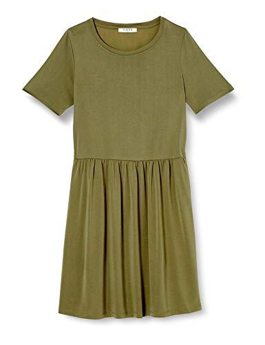 PIECES Pckamala SS Dress Noos BC Vestito Casual, Verde Intenso di Licheni, M Donna
