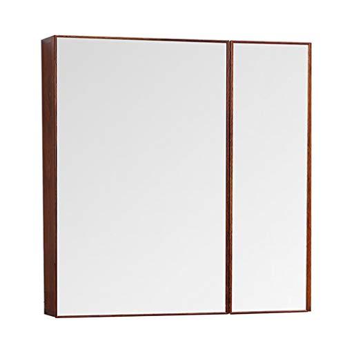 Mueble con Espejo For Baño Mueble Tocador Suspendido con Espejo Caja De Espejo De Baño Impermeable (Color : Brown, Size : 70 * 13 * 70cm)